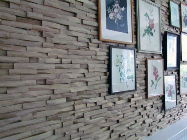 Wood Blocks Textured Wall