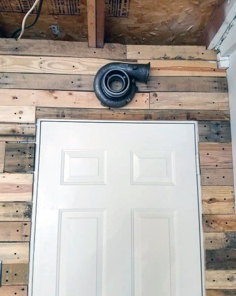 Wood Board Cool Garage Wall Ideas