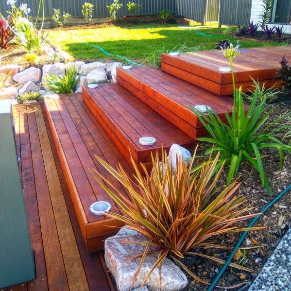 Wood Board Ideas For Deck Steps