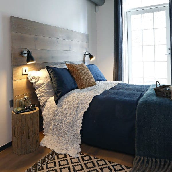 Wood Boards Headboard Design Ideas