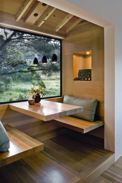 Wood Breakfast Nook