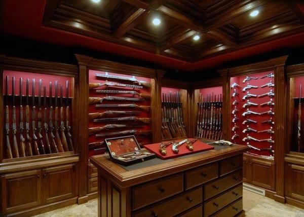 Wood Cabinet Designs Gun Room