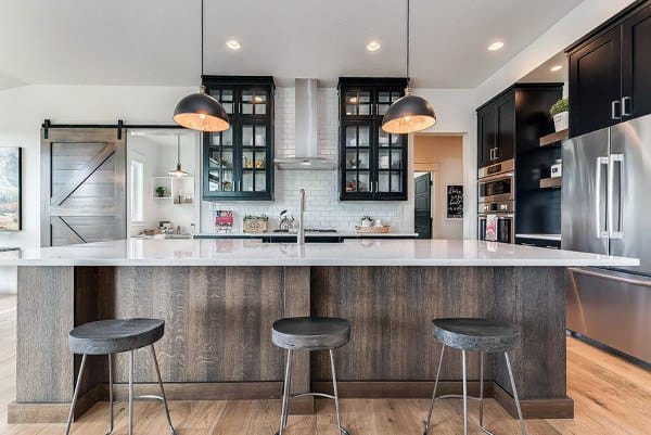 Wood Cabinets Rustic Kitchen Ideas