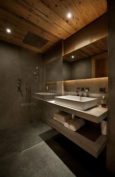 Wood Ceiling Bathroom Design Ideas