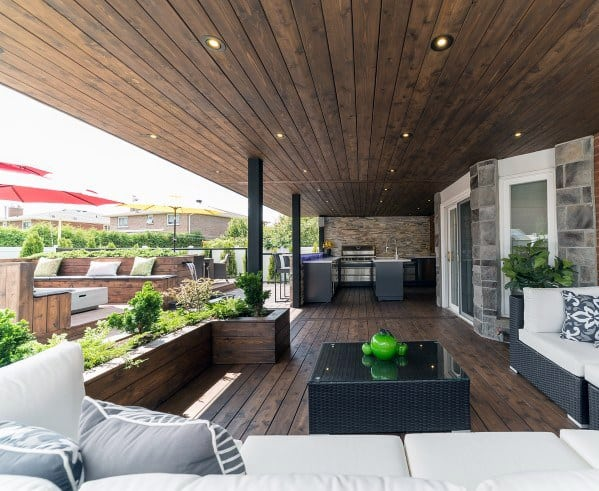 Wood Ceiling Deck Roof Design Idea Inspiration