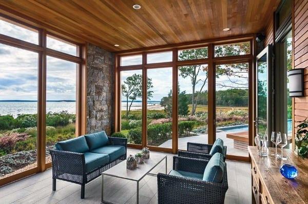 Wood Ceiling Sunroom Ideas