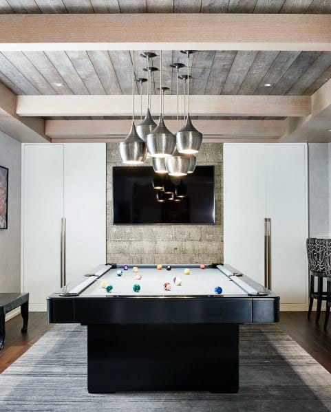 Wood Celing Over Pool Table Room Ideas