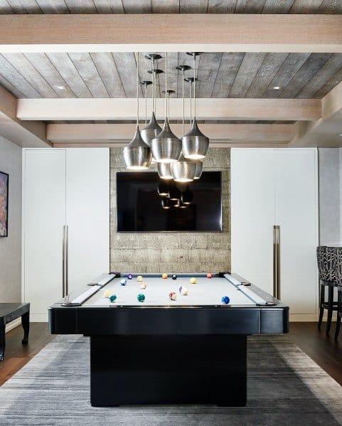Wood Celing Over Pool Table Room Ideas
