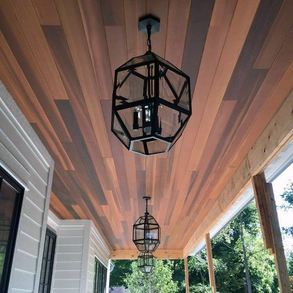 Wood Contemporary Ideas For Porch Ceiling