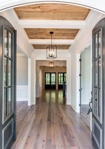 Wood Cool Trey Ceiling Foyer Entrance