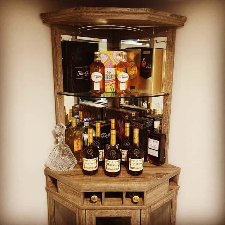 Wood Corner Liquor Cabinet Chicityluis