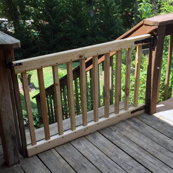 Wood Deck Gate Backyard Ideas