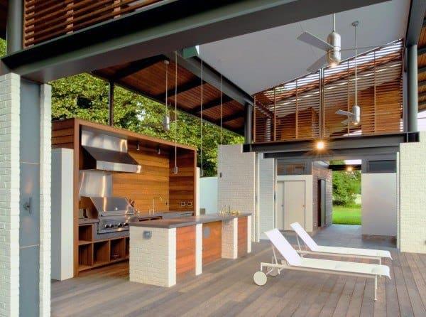Wood Deck Outdoor Kitchen Ideas