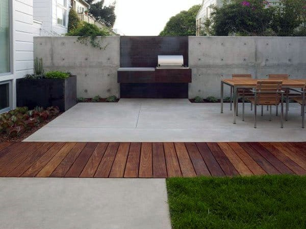 Wood Deck With Concrete Patio Ideas