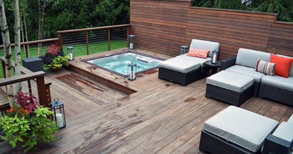 Wood Designs Hot Tub Deck