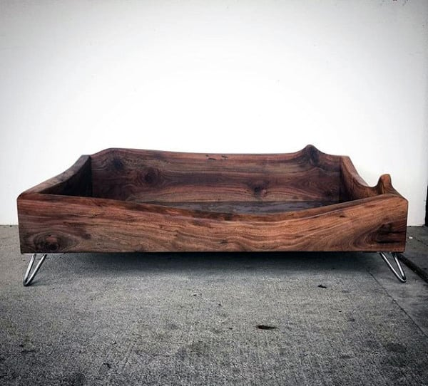 Wood Dog Bed Man Cave Decor