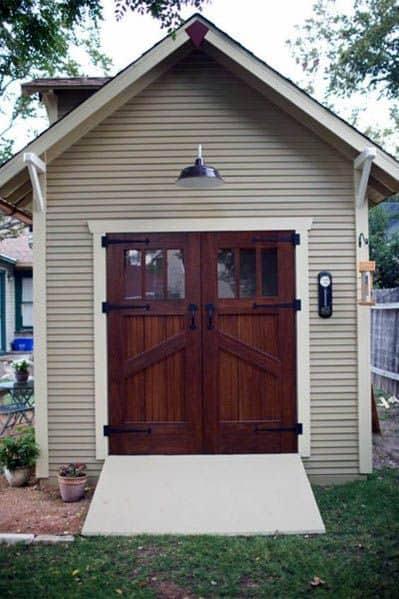 Wood Door Backyard Shed Ideas