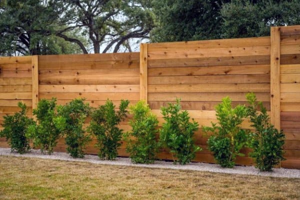 Horizontal Fence Front Yard Curb Appeal