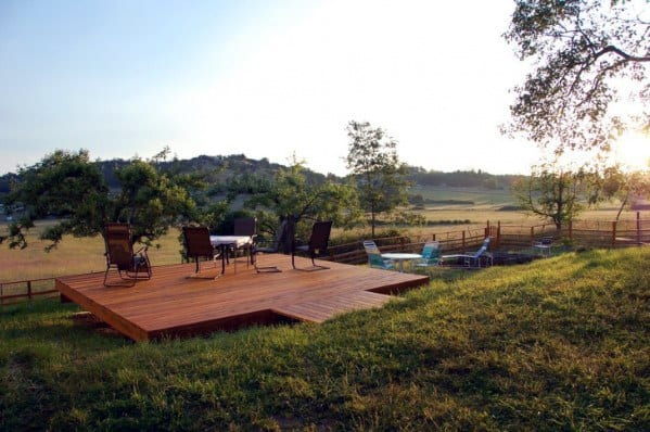 Wood Floating Deck Backyard Ideas