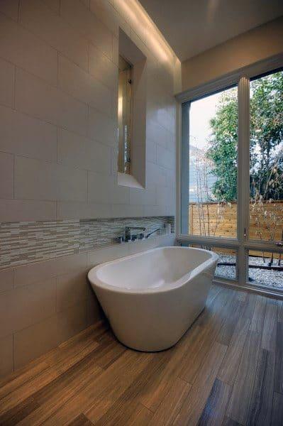 Wood Flooring Bathtub Cool Bathrooms Ideas