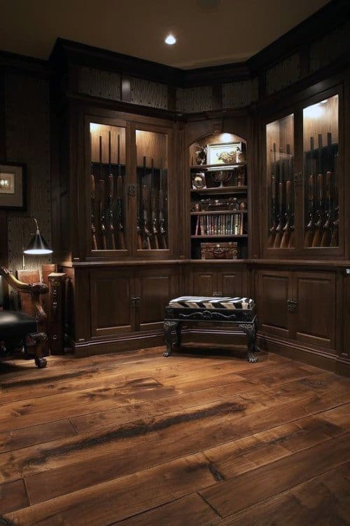 Wood Flooring Gun Room Design Inspiration