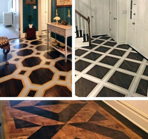 Wood Foyer Design Ideas For Painted Floor