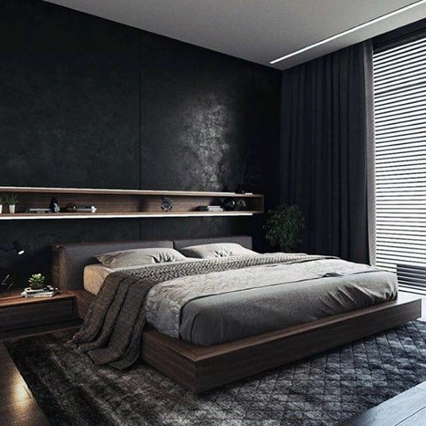 Wood Frame Bed Bachelor Pad Furniture Ideas For Bedrooms