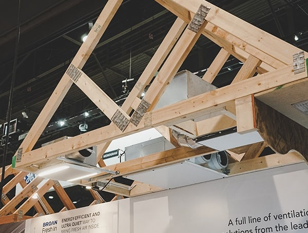 Wood Frame Roof With Boran Fresh In Ventilation System 2019 Nahb Show