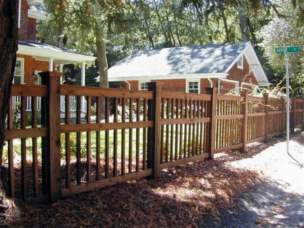 Wood Front Yard Fence Exterior Design