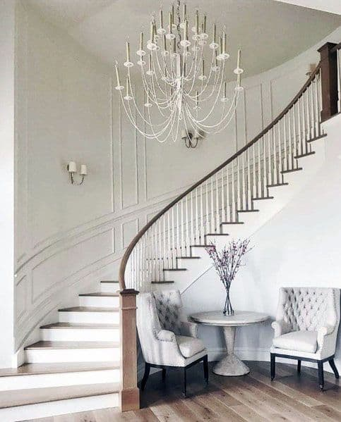 Wood Grand Staircase Home Designs