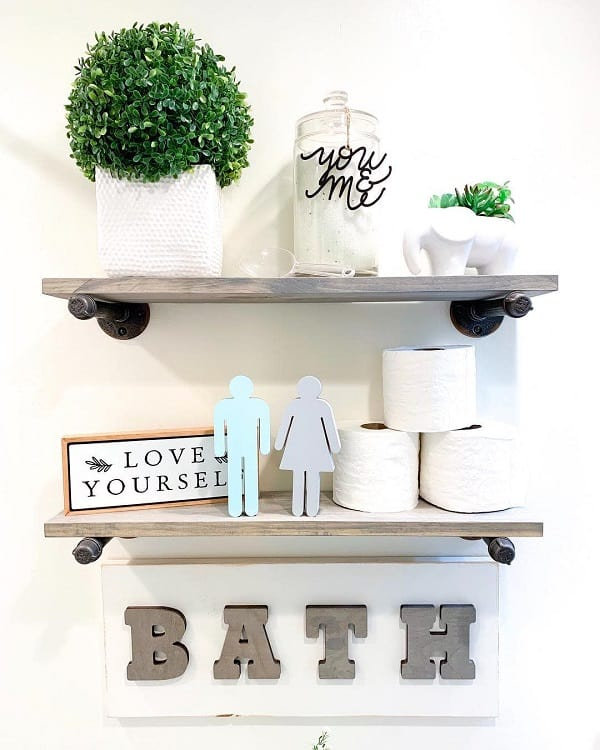 Wood Home Bathroom Shelf Decor 302woodworks