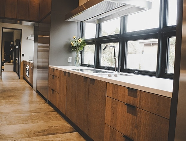 Wood Kitchen Cabinets With White Countertops 2019 New American Remodel