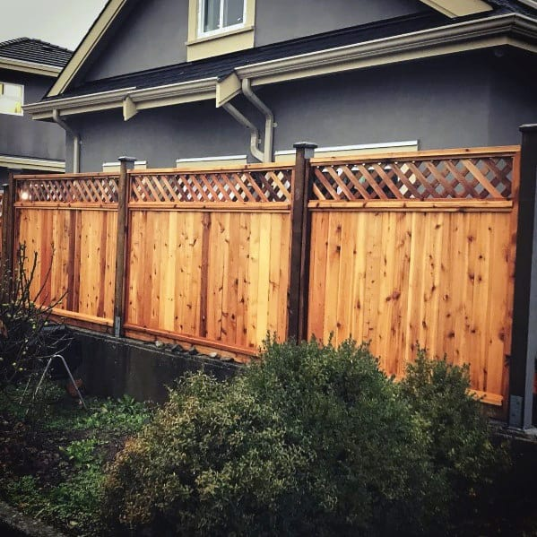 Wood Lattice House Privacy Fence Ideas