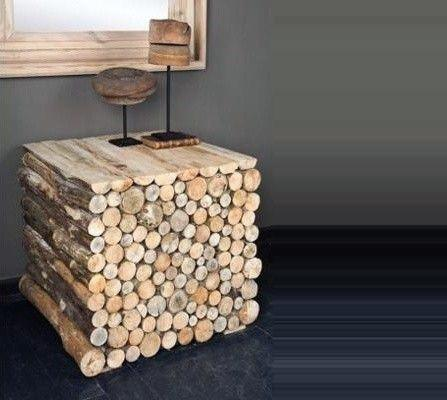 Wood Logs Cheap Man Cave Ideas Unique Side Table Designs