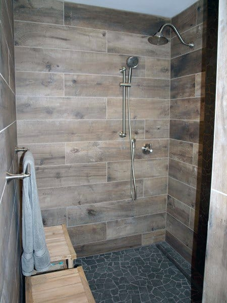 Wood Look Bathroom Tile Shower Ideas