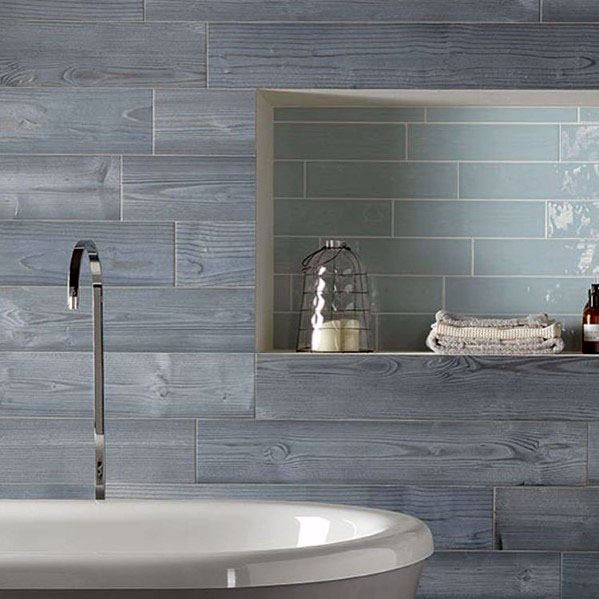 Wood Look Tile Blue Bathroom Ideas Inspiration