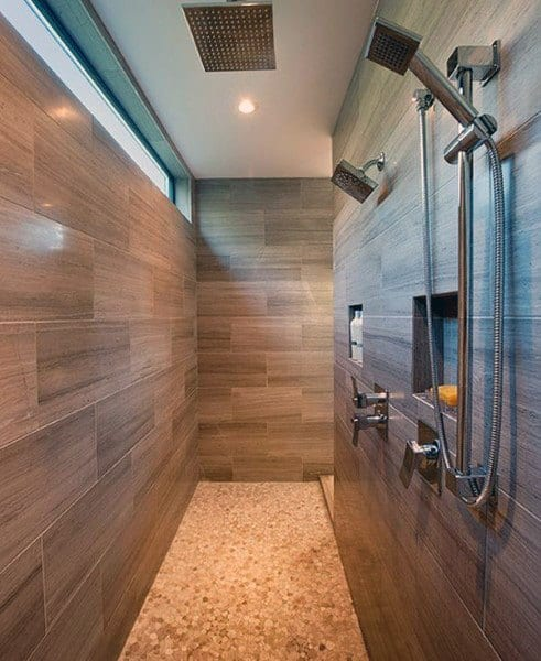 Wood Look Tile Cool Showers Ideas