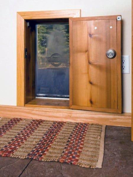 Wood Luxury Doggy Door With Lock