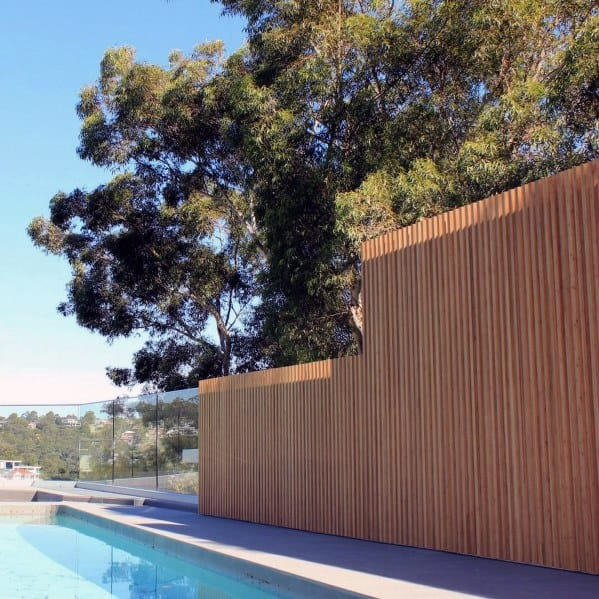 Wood Magnificent Pool Fence Design Ideas