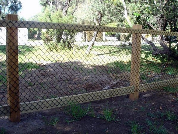 Wood Metal Design Ideas For Dog Fence