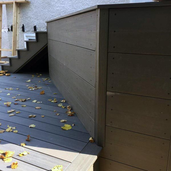 Wood Painted Home Deck Skirting Ideas