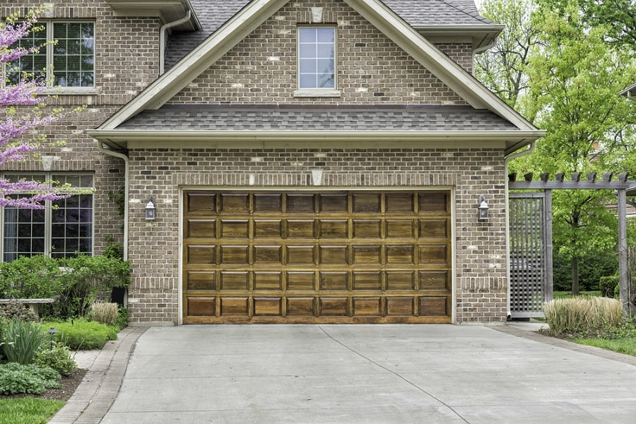 Wood Slats Garage Door Ideas With Flush Look When Closed