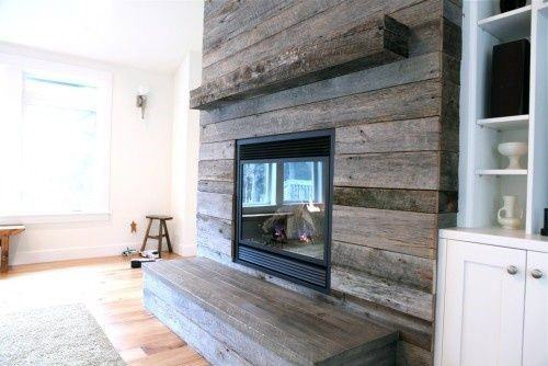 Wood Panel Walls Fireplace Mantel Design