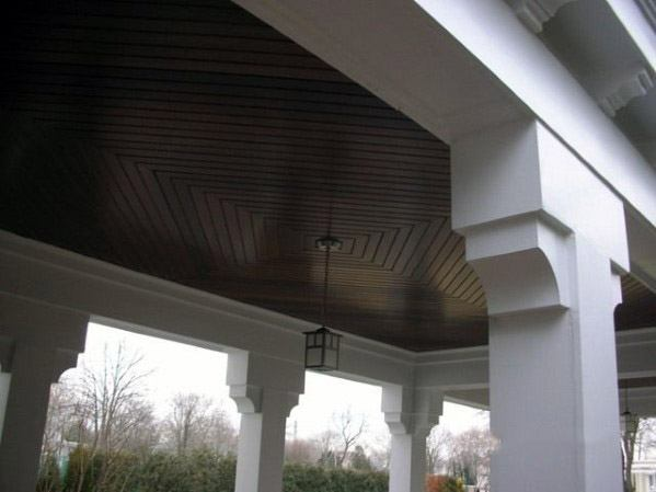 Wood Pattern Ideas For Porch Ceiling Outdoor