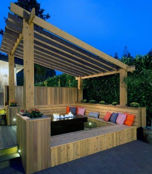Wood Pergola Backyard Designs Deck Roof