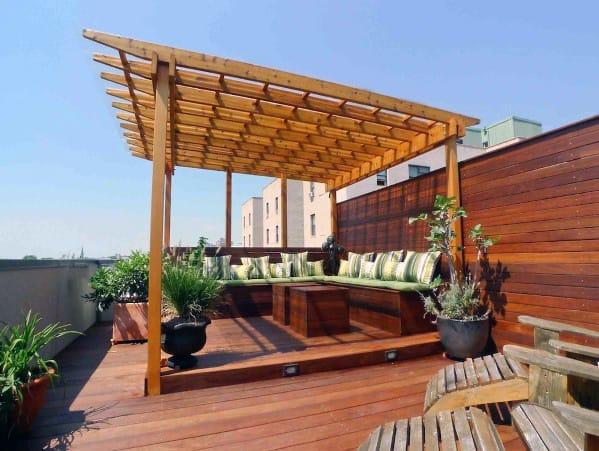 Wood Pergola Deck Roof Backyard Ideas