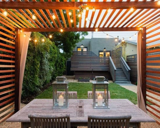 Wood Pergola Good Ideas For Covered Patio String Light