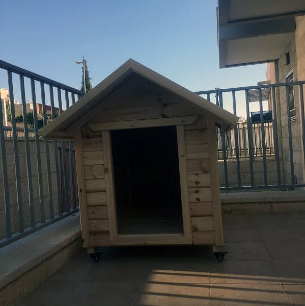 Wood Plank Dog House Designs