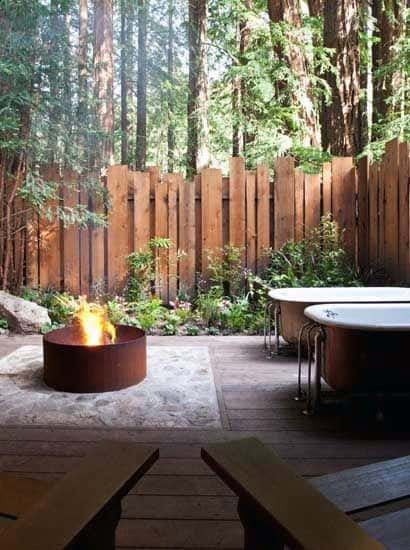 Wood Planks Privacy Fence Design Idea Inspiration