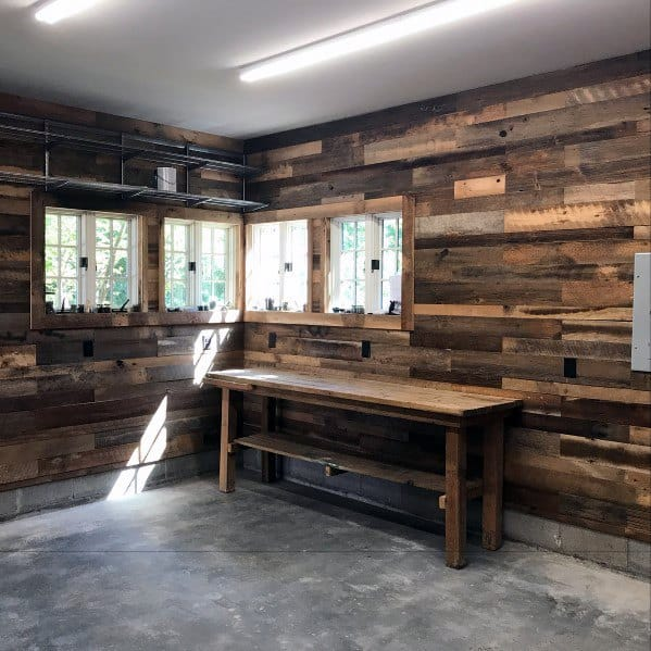 Wood Planks Rustic Garage Wall Ideas